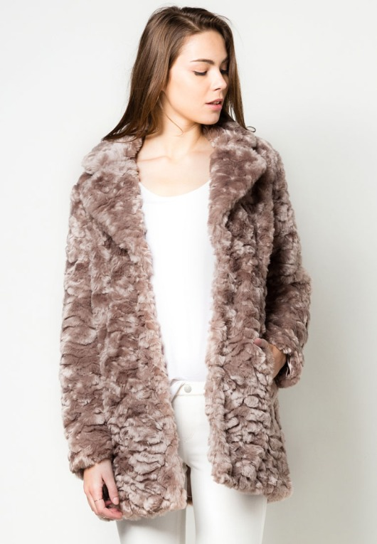 Mink Boyfriend Faux Fur Coat by Dorothy Perkins