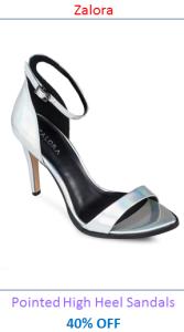 Zalora Pointed High Heel Sandals