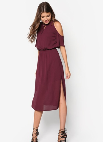 maroon dress 1
