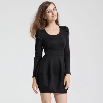 Free-Shipping-Women-s-Evening-Mini-Dress-Long-Sleeve-Lady-s-Dresses-D98576-2