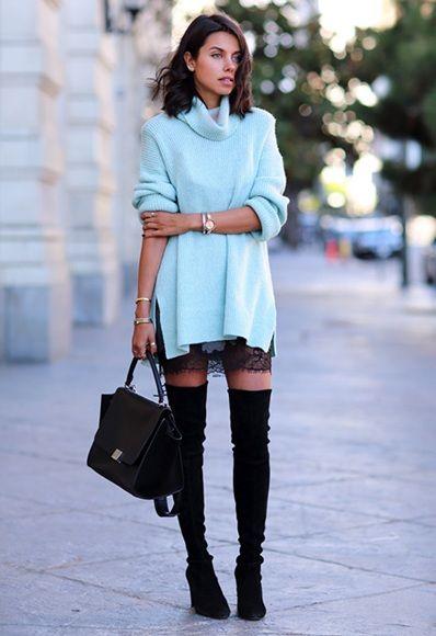 slip dress in winters