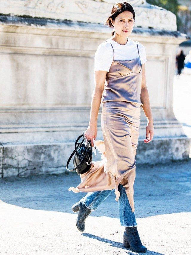 slip dress satin